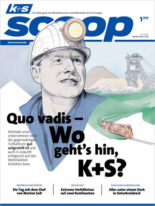 "K+S / scoop magazine ""quo vadis?"" / cover"